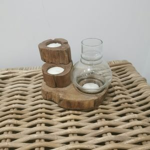 Wood made candle holder